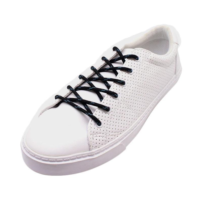 KipzKapz Shoelace Tali Sepatu Bulat - Black Blue2 [4 mm/ 115 cm]