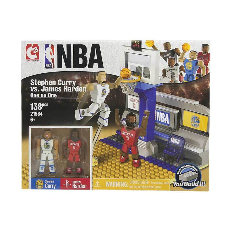 C3 NBA Stephen Curry vs James Harden One on One Set Mainan Blocks dan Stacking Toys