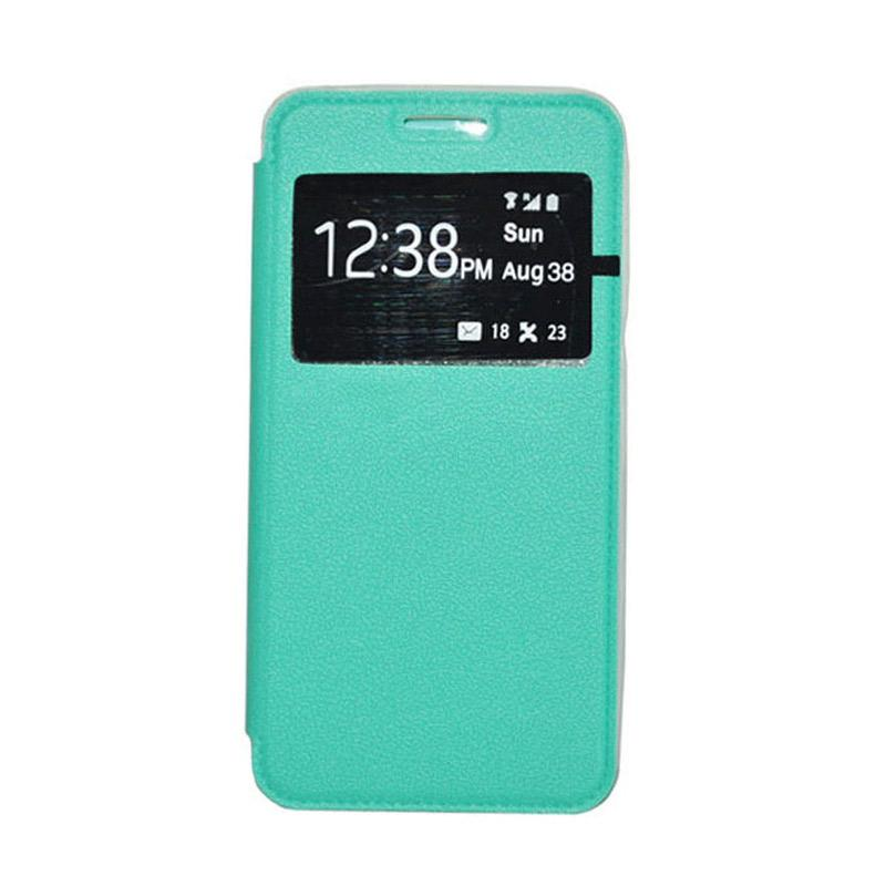 OEM Leather Book Cover Casing for Samsung Galaxy Note 4 - Green