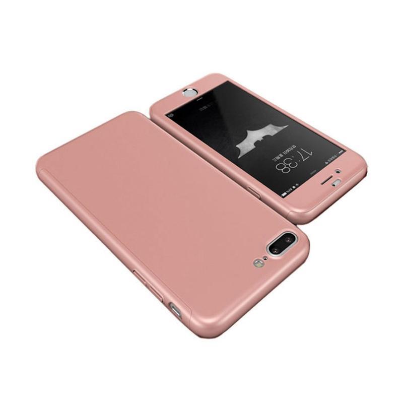 Tunedesign TPU 360 Casing for iPhone 7 Plus - Rose Gold
