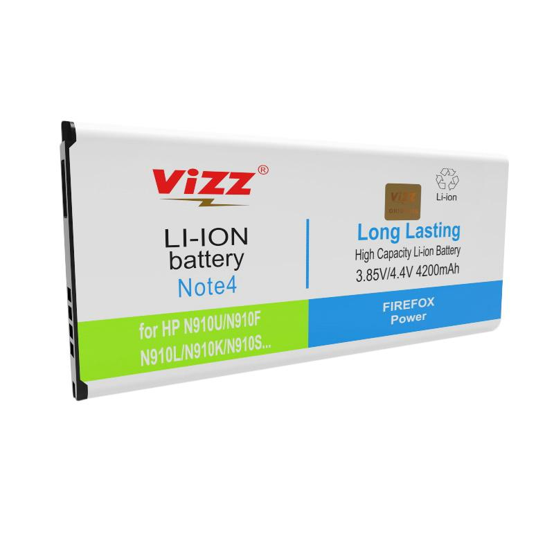 Vizz Baterai Double Power for Samsung Note4/ N910U/ N910F [4200 mAh]