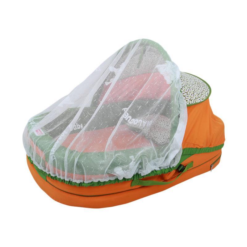 harga Dialogue Baby Kasur Bayi with Kelambu Polka Series - Orange Blibli.com