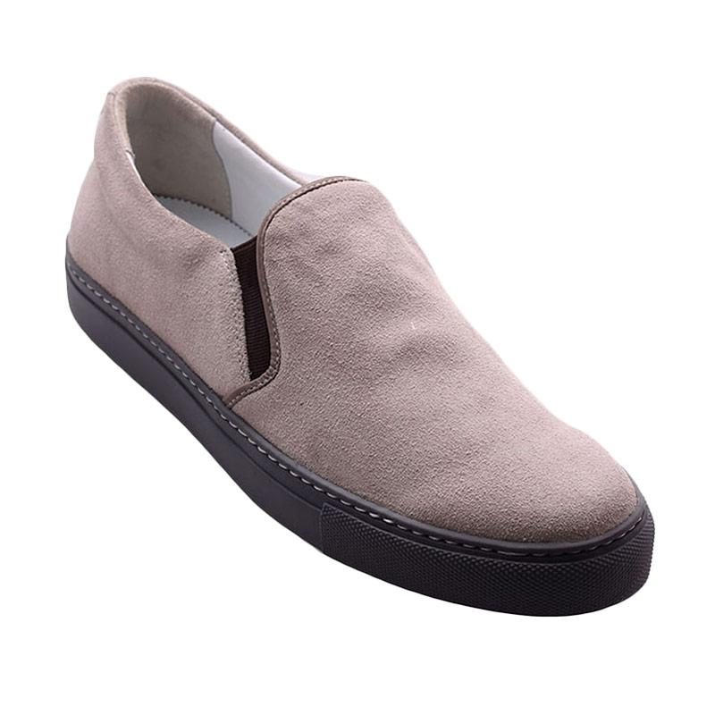 Ftale Footwear Hector Mens Shoes Sepatu Pria - Grey Suede