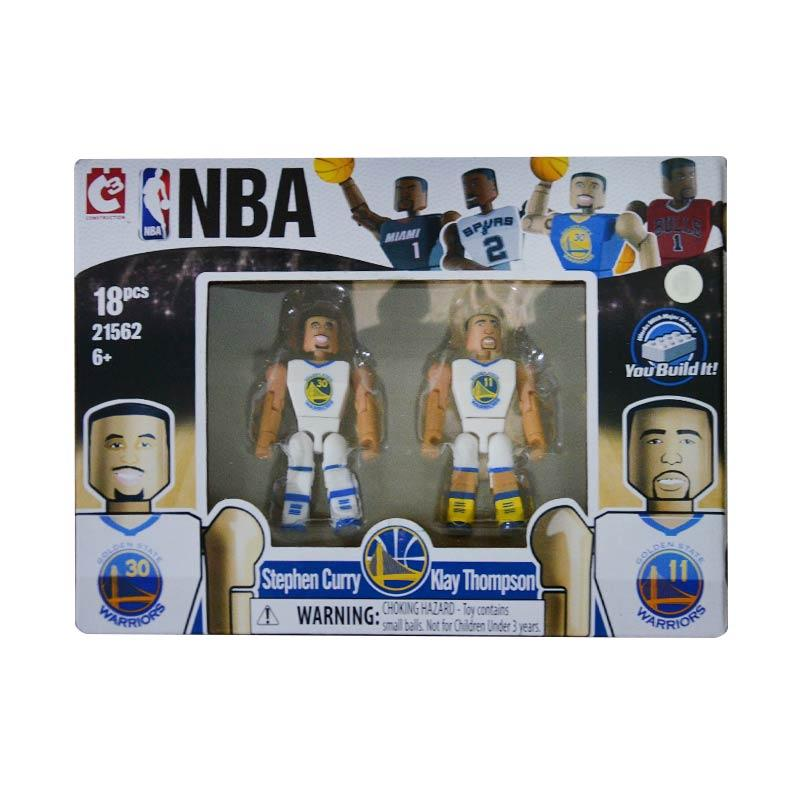 NBA C3 Golden State Stephen Curry and Klay Thompson Lego Style Mainan Block dan Stacking Toys