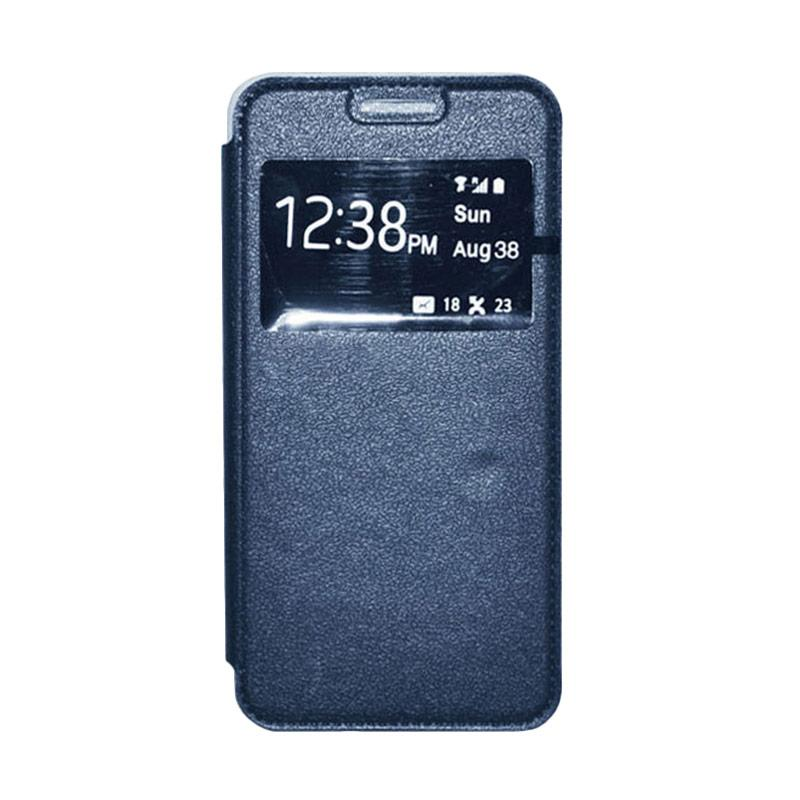 OEM Book Cover Leather Casing for Samsung Galaxy Grand 2 - Navy