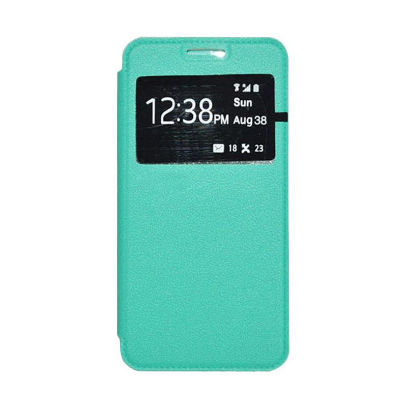 OEM Leather Book Cover Casing for Samsung Galaxy Note 5 - Green