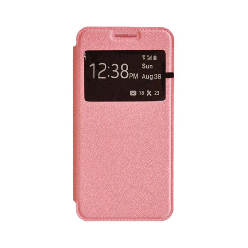 OEM Leather Book Cover Casing for SONY Xperia T2 Ultra - Pink