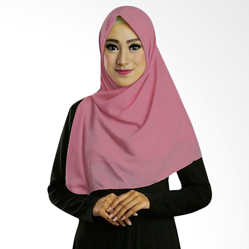 harga Ruman Hijab Square Jilbab Kerudung Segi Empat TS - Peach Blibli.com