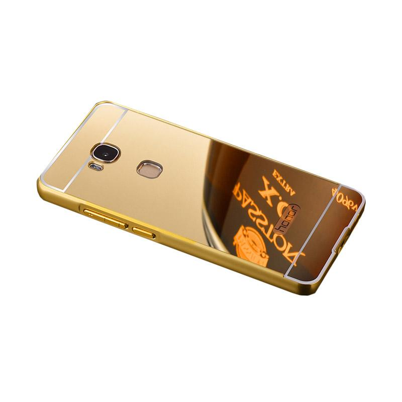 Bumper Case Mirror Sliding Casing for Huawei GR5 - Gold
