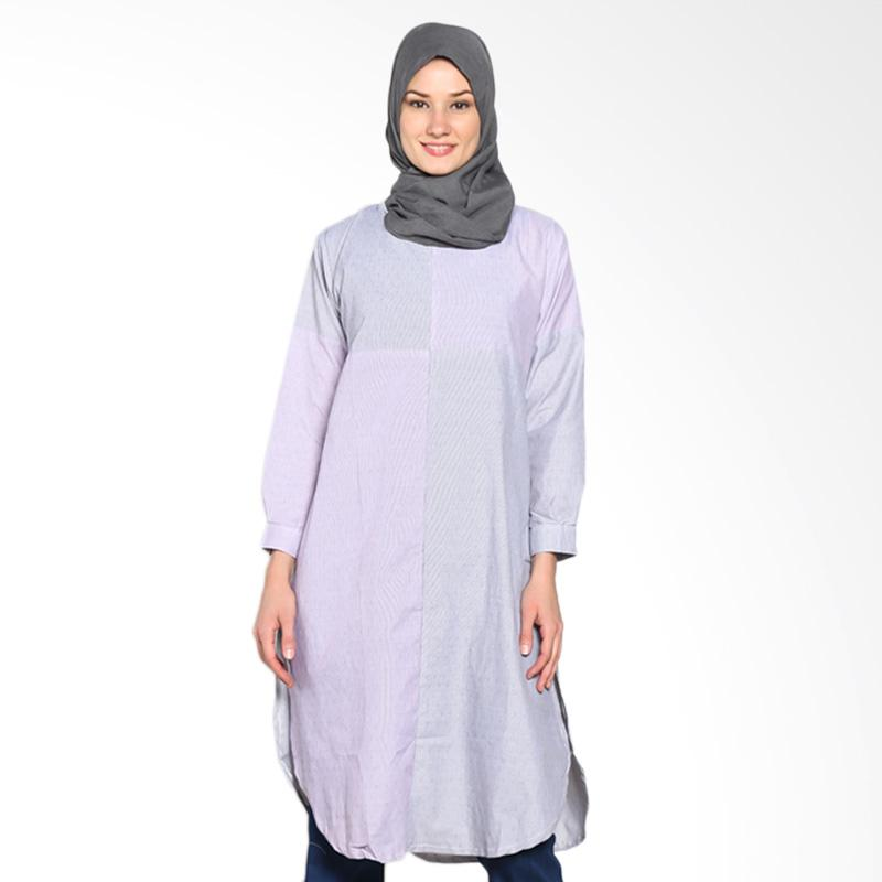 Chick Shop CO-72-04-HU Cross Leaf Tunic Moslem - Black Purple
