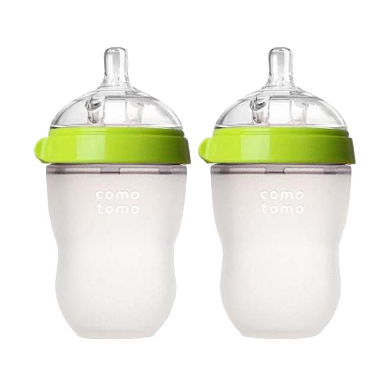 Comotomo Botol Susu - Green [250 mL/ Twin Pack]