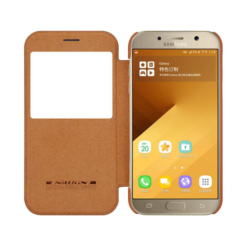 Nillkin Qin Leather Casing for Samsung Galaxy A3 2017 - Brown