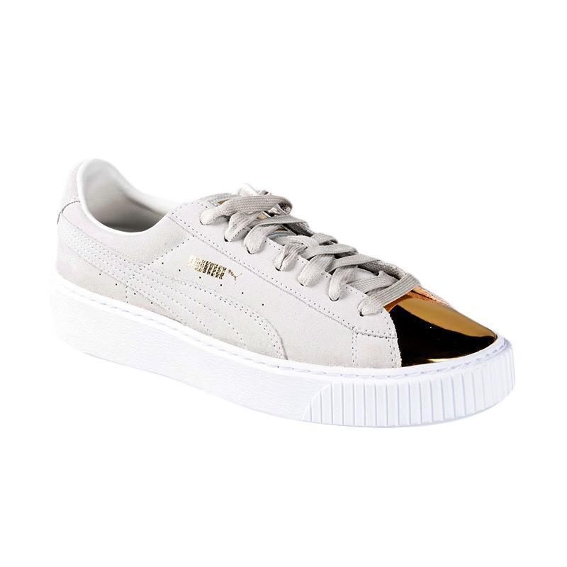 Puma Suede Creepers Gold (no R) Wn Sepatu Sneakers Wanita 362222 01 030a3e4f45