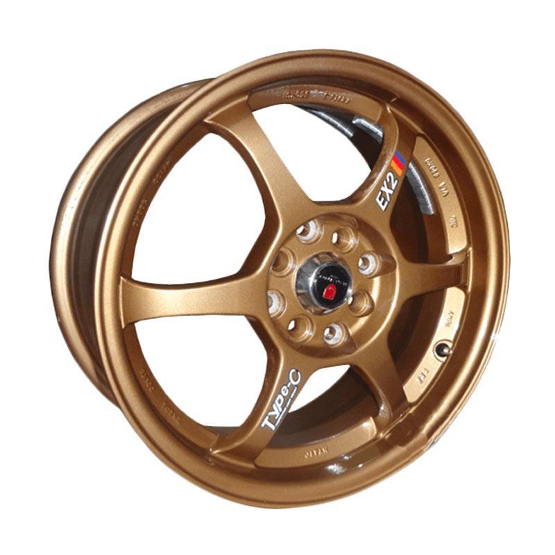 harga Replika Compomotive Ex2 R16 x 7.0 et42 8Hx100/114.3 Velg Racing - Bronze Blibli.com