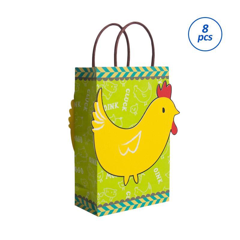 Wola Party Supplies Goodie Bags / Kantong Ultah Green [8 pcs]