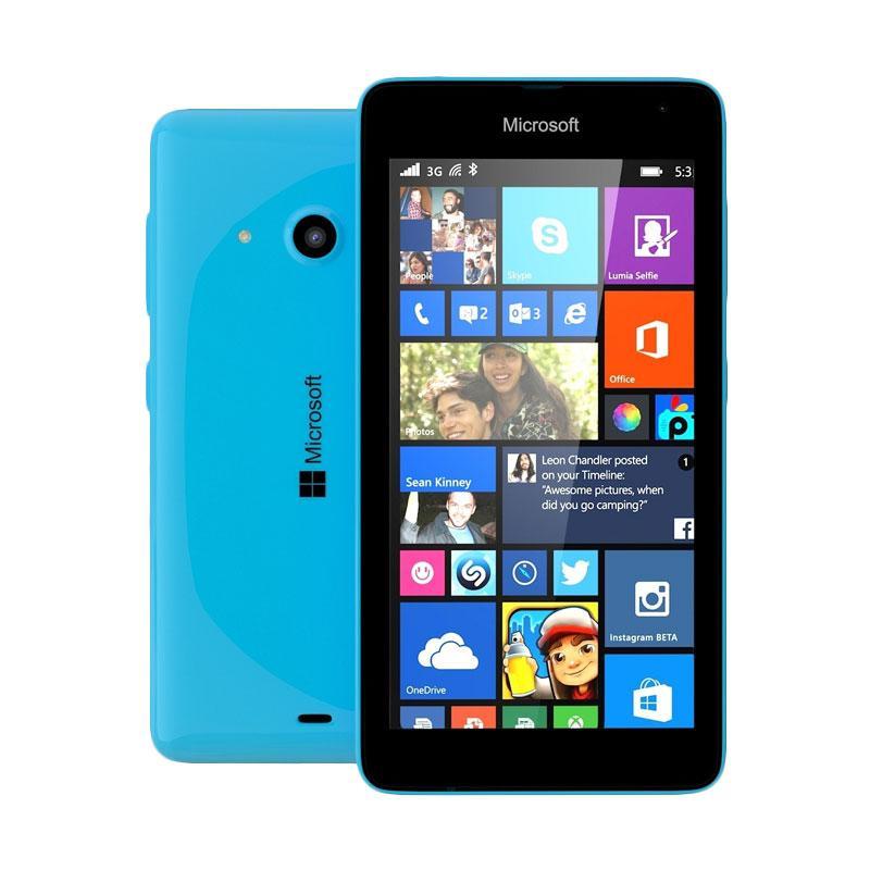 Microsoft Lumia 535 RM1090 Handphone - Cyan [Dual SIM/8GB/RAM 1GB]