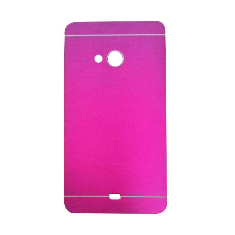 Motomo Metal Hardcase Casing for Microsoft Lumia 540 - Pink