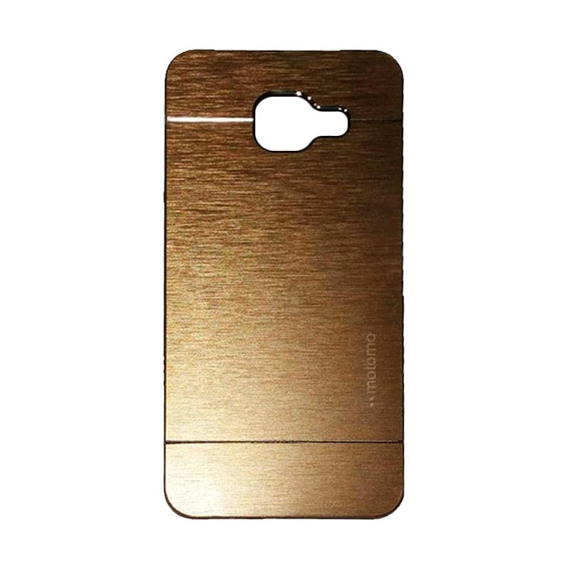 Motomo Metal Hardcase Casing for Samsung Galaxy A3 A310 2016 - Gold