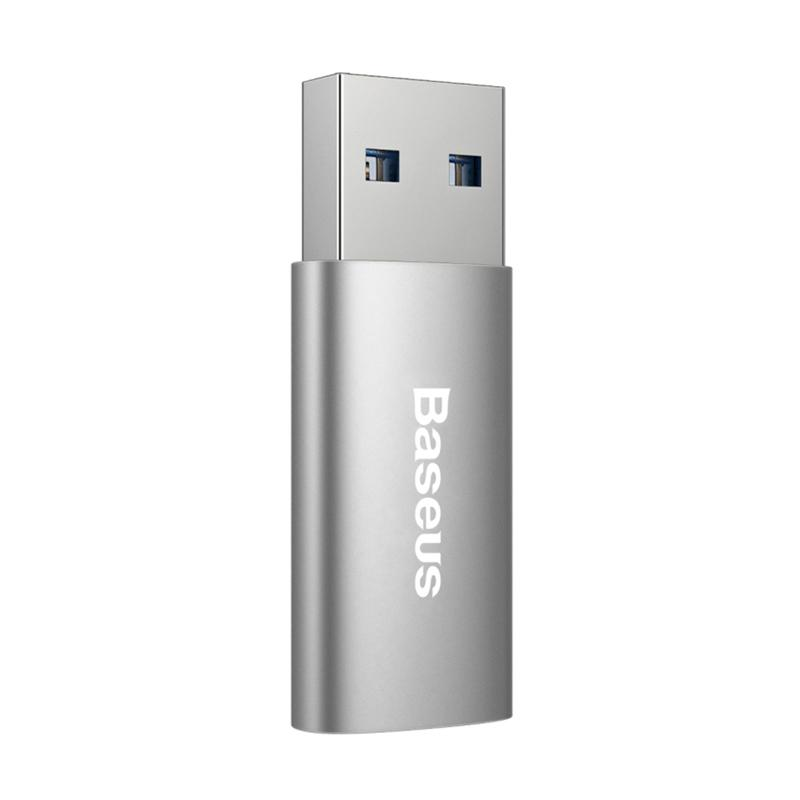 Baseus Sharp Series USB 3.0 to USB Type-C 3.1 Adapter - Dark Grey