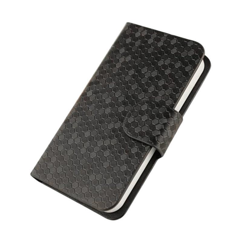 OEM Glitz Flip Cover Casing for Samsung Galaxy A9 PRO 2016 - Hitam