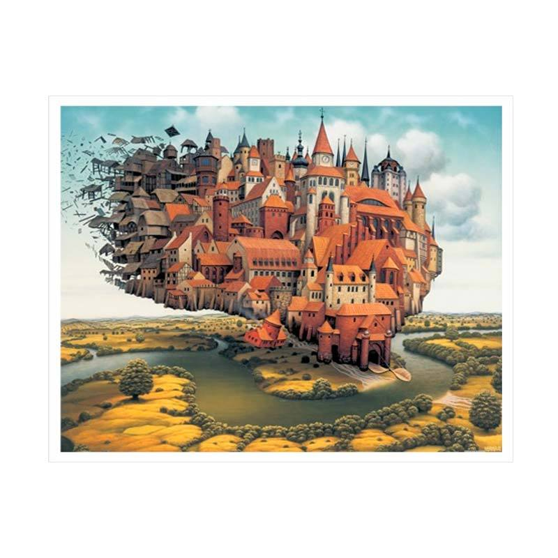 Pintoo Jacek Yerka City Is Landing Jigsaw Puzzle [2000 Pcs]