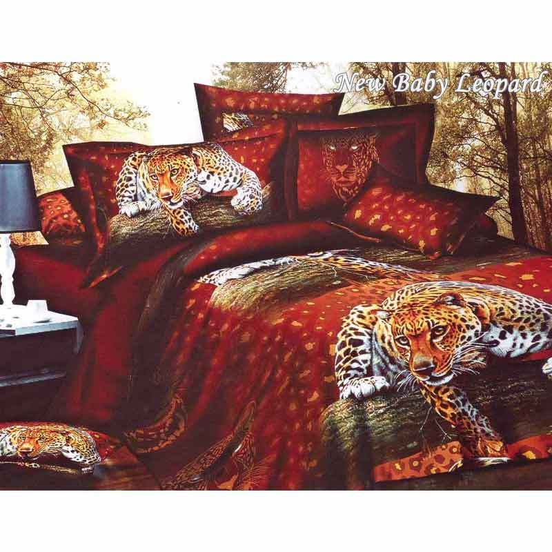 Rosewell Baby Leopard Microtex Disperse Set Sprei