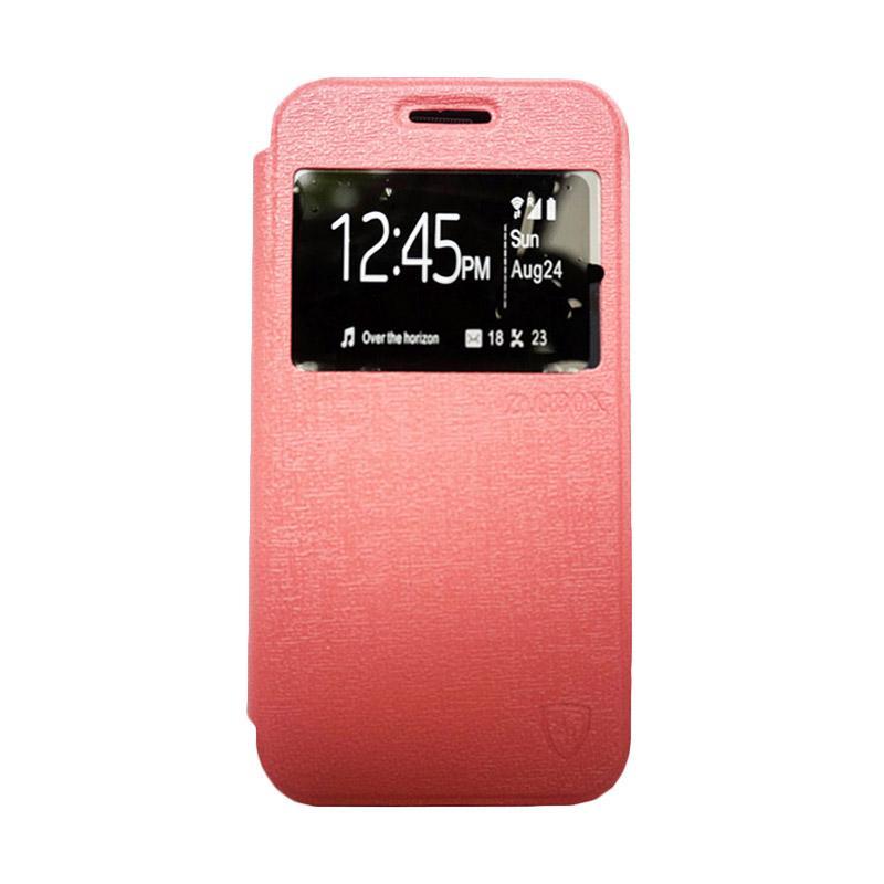 ZAGBOX Flip Cover Casing for Smartfren Andromax EC - Pink