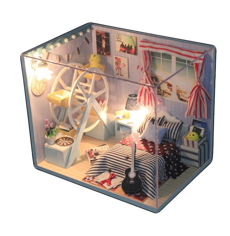 harga A1Toys Rumah Miniatur DIY Kamar Si Petualang Lampu LED & Akrilik JR Kerajinan Tangan Blibli.com