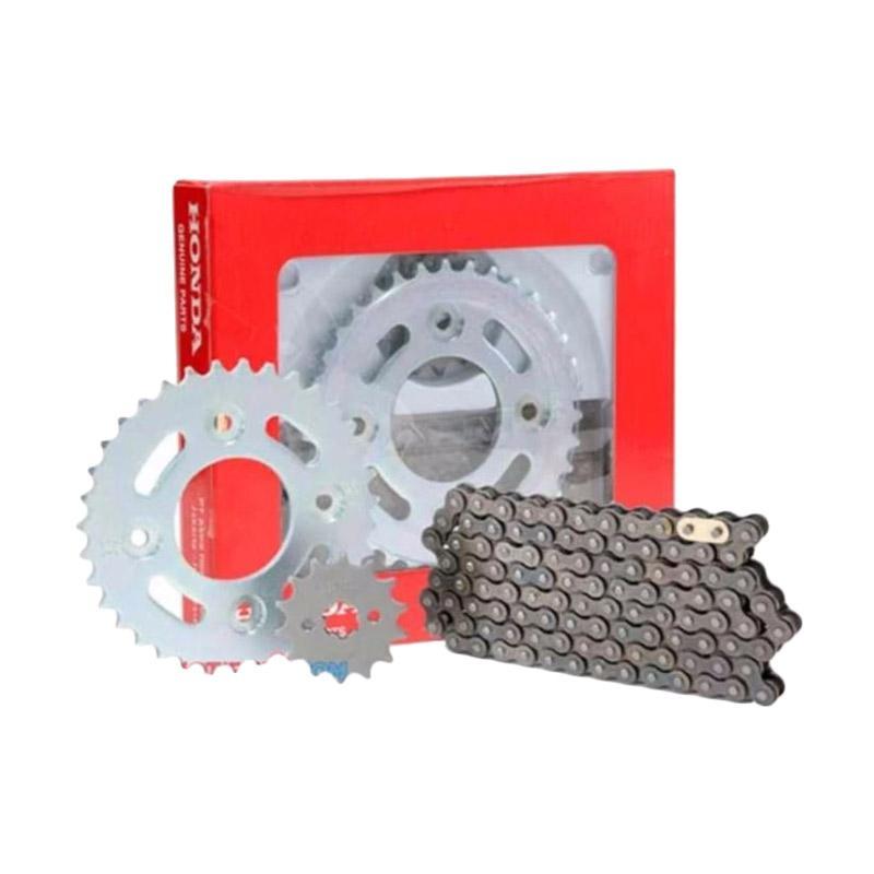 Honda Genuine Parts 06401KYZ900 Paket Gir dan Rantai Motor Suku Cadang Orisinil [AHM0466]