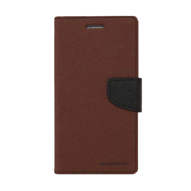 Mercury Fancy Diary Casing for Samsung Galaxy S4 I9500 - Coklat Hitam