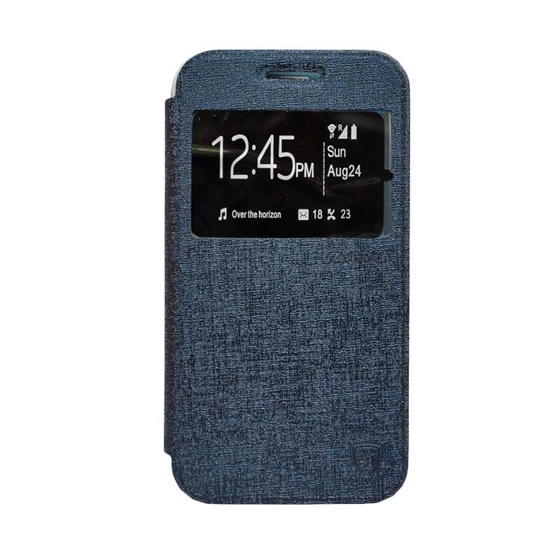 ZAGBOX Flip Cover Casing for Samsung Galaxy S7 Plus - Biru Dongker