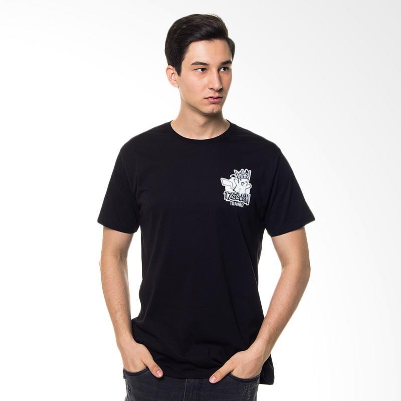 17SEVEN Original Tees Trainer T-shirt Pria - Black