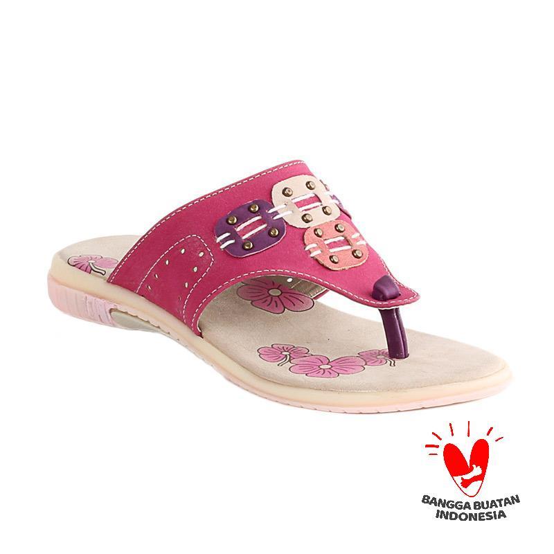Blackkelly Alexia LIF 107 Sandal Flip Flop Anak - Maroon Pink