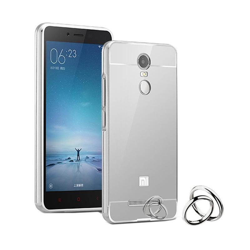 Jagostu Bumper Mirror for Xiaomi Redmi Note 3 Pro - Silver