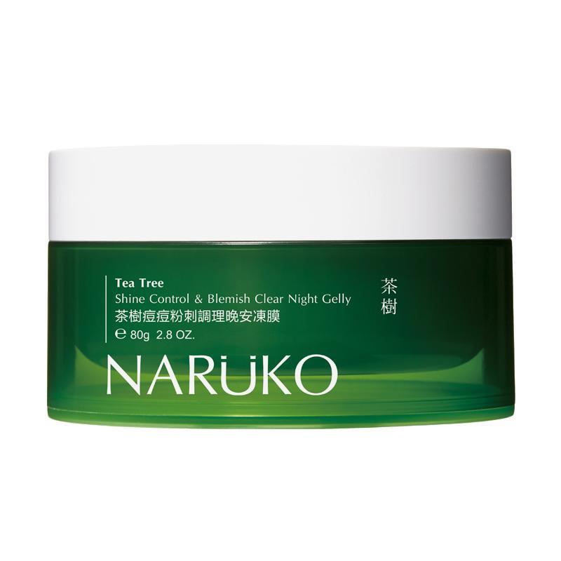 harga Naruko Tea Tree Shine Control & Blemish Clear Night Gelly (80 Gram)