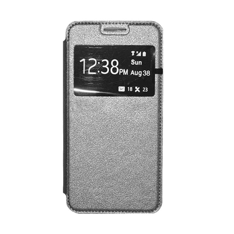 OEM Leather Book Cover Casing for SONY Xperia T2 Ultra - Grey