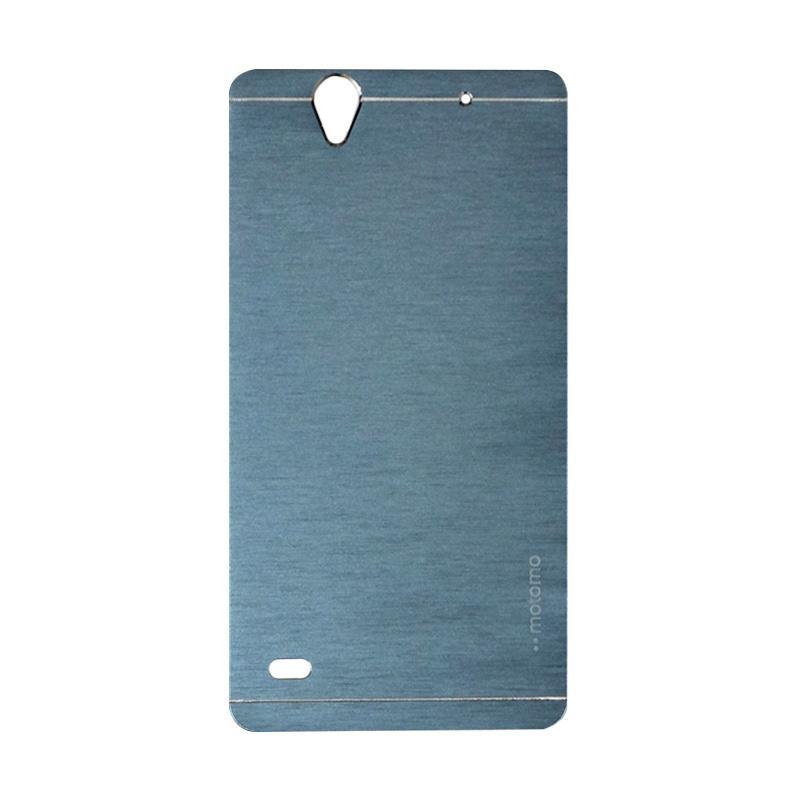 Motomo Metal Hardcase Casing for Sony Xperia C4 - Dark Blue