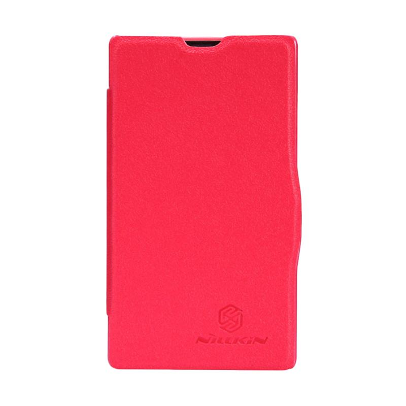 Nillkin Original Fresh Flip Cover Casing for Nokia X - Red