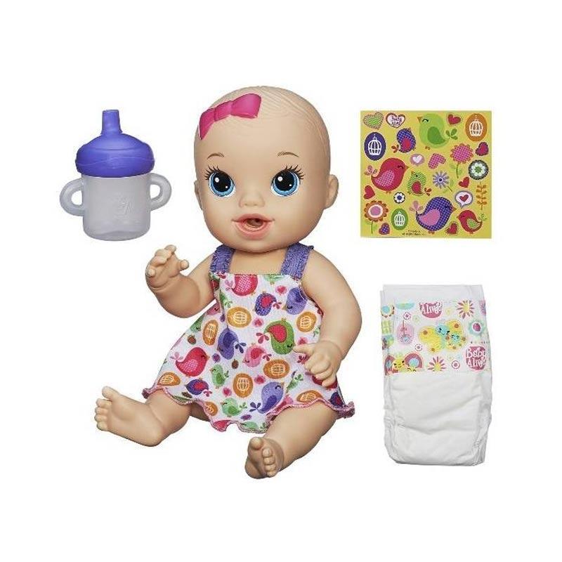 harga Hasbro Baby Alive Sips & Cuddles Blonde Doll - Baby Birdie Dress Blibli.com