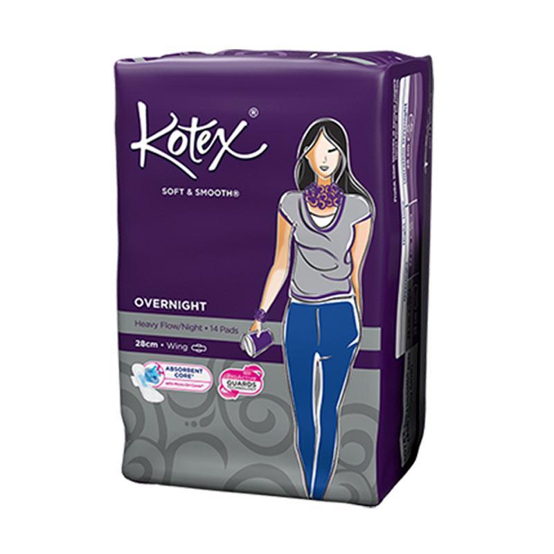 Kotex Soft & Smooth Overnight 28 cm Pembalut Wanita [14 pads]