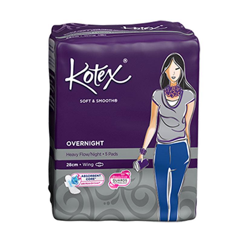 Kotex Soft & Smooth Overnight 28 cm Pembalut Wanita [5 Pads]