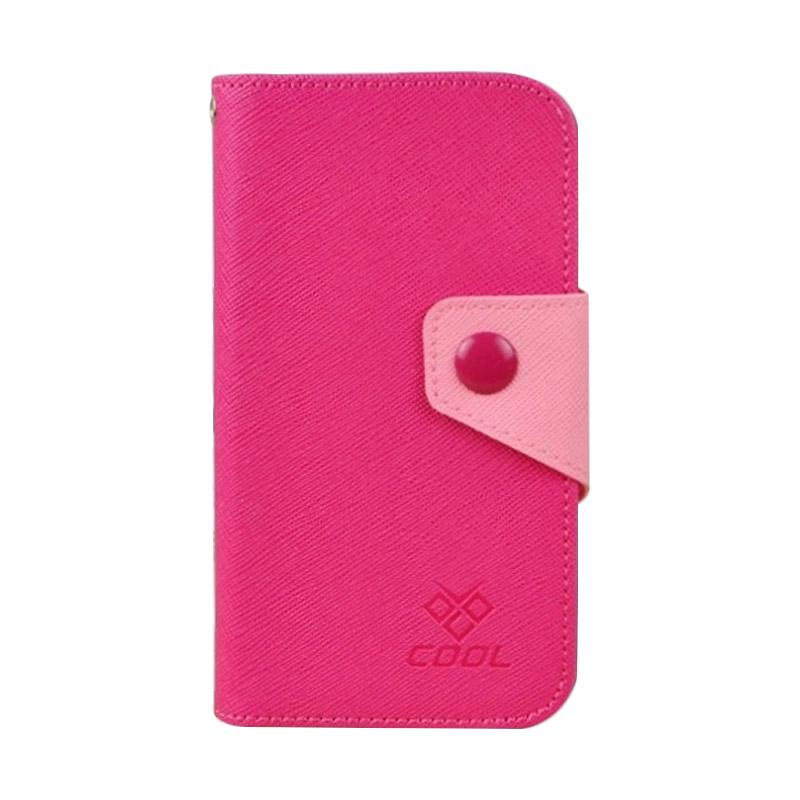 OEM Rainbow Flip Cover Casing for BlackBerry Venice - Merah Muda