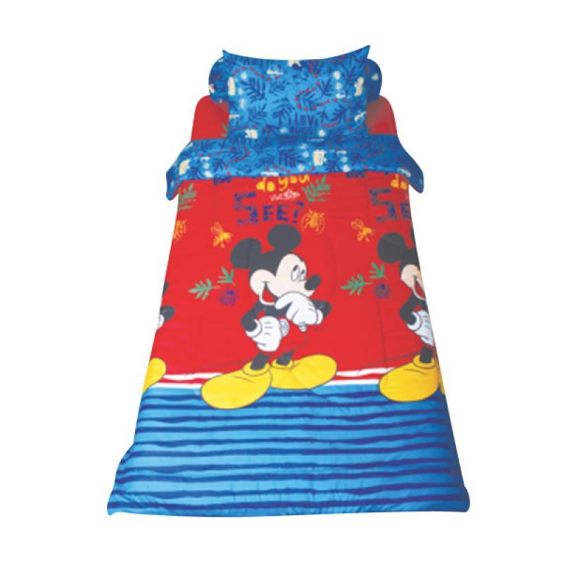 California Single Motif Mickey Mouse Sprei Set [120 x 200 x 22.5 cm]
