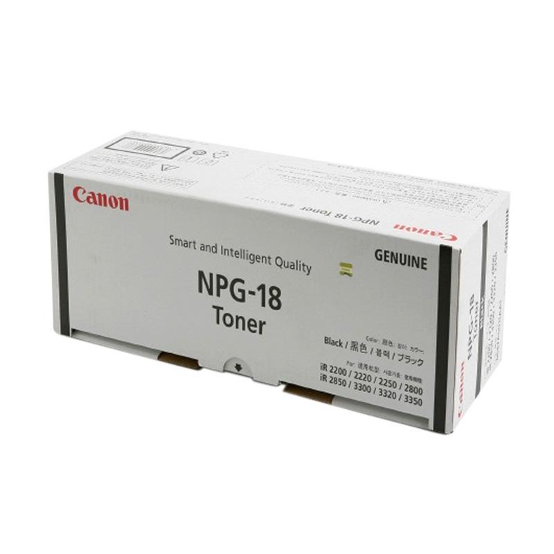 Canon NPG 18 Original Toner for Mesin Fotocopy IR2200/2800/3300/3300i/3320i - Black