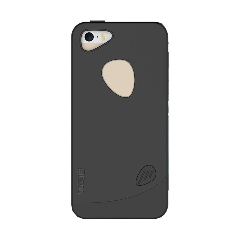 Slicoo Frosted Back Side Hardcase Casing for Apple Iphone 6 - Hitam