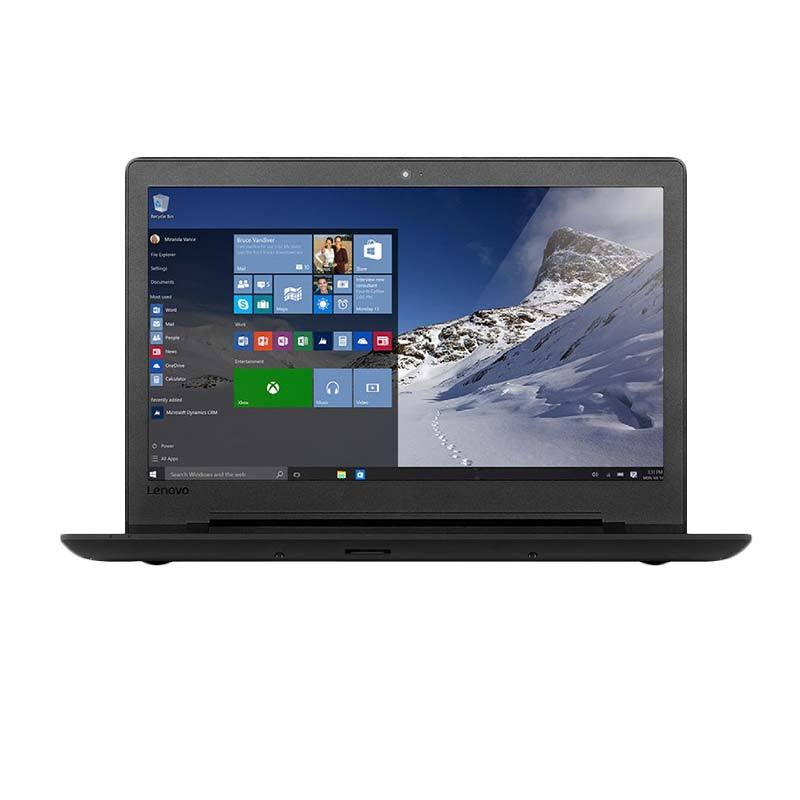 Lenovo IdeaPad 110-14IBR Notebook - Black (80T6007QID) [Celeron Quad Core N3160/2GB/1TB/14 Inch/DOS]