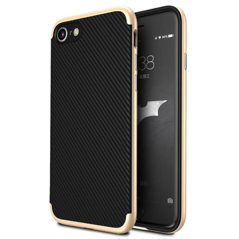 Likgus Tough Shield Carbon Hybrid Casing for Iphone 7 Plus - Gold