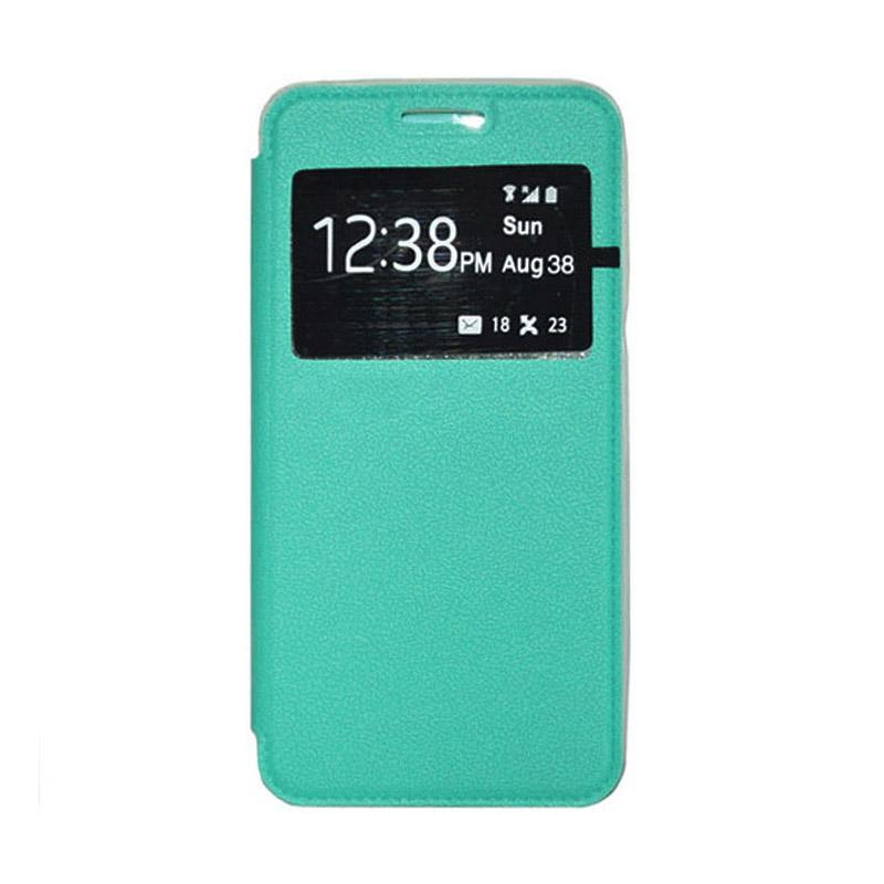 OEM Leather Book Cover Casing for SONY Xperia T2 Ultra - Green