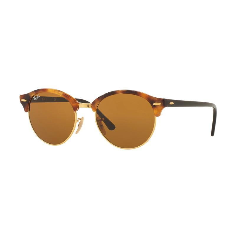 Ray-Ban Clubround Rb4246 Sunglasses - Spotted Brown Havana [1160/Size 51/Brown]