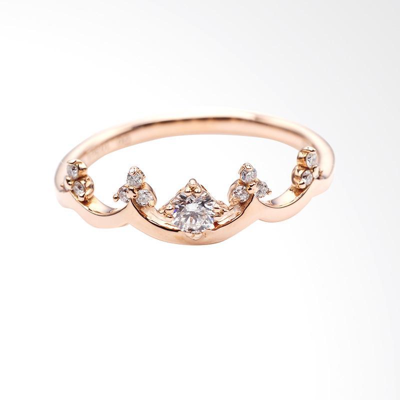 Tiaria DMKMJZ010 Perhiasan Cincin Emas with Zircon Rose Gold [9K]